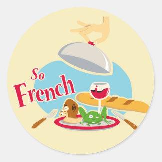 So French Classic Round Sticker