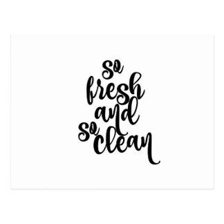 So Fresh and So Clean Postcard