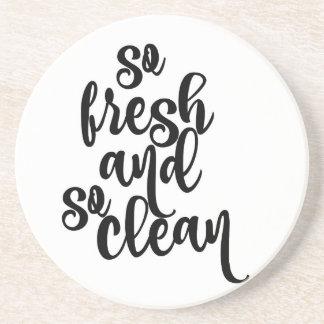 So Fresh So Clean Black & White Design Coaster