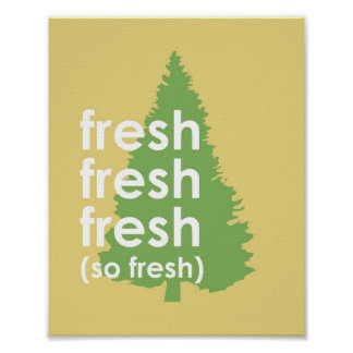 So Fresh Typographic Poster