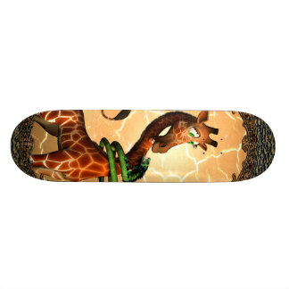 So funny, cute giraffe skate board decks