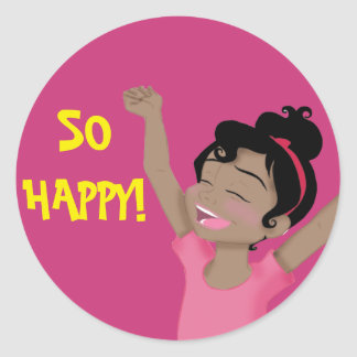 """So Happy"" ClaraBelle Sticker"