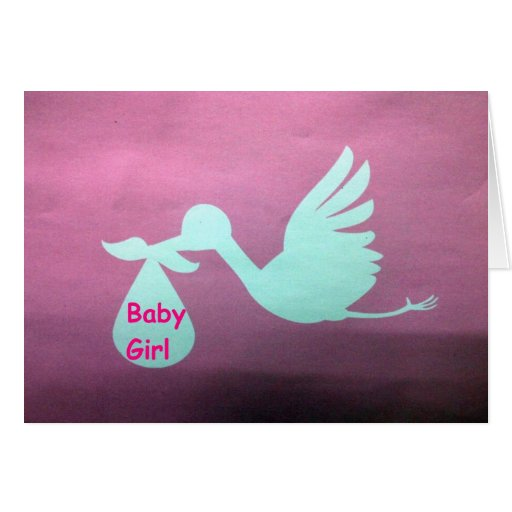SO HAPPY FOR YOU AND YOUR NEW BABY GIRL GREETING CARDS