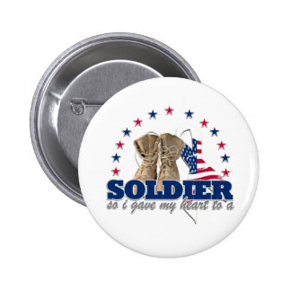 so i gave my heart to a soldier 2 inch round button