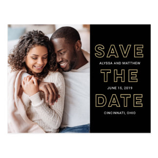 So In Love EDITABLE COLOR Save The Date Postcard