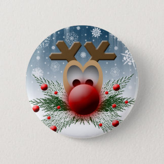 So It Glows Reindeer Xmas Holiday Christmas 2 Inch Round Button