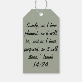 """""""So it will Stand"""" Scripture Gift Tags Pack Of Gift Tags"""