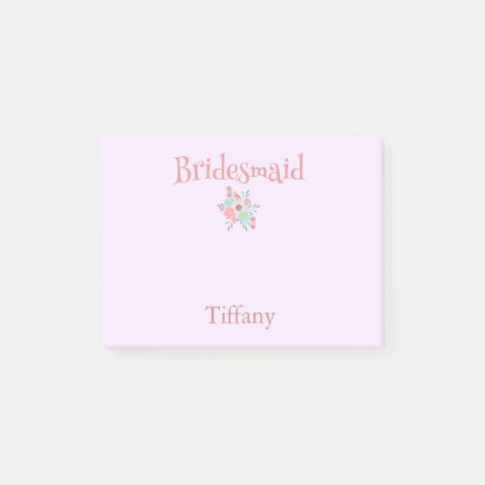 So lovely Bridesmaid Floral Bouquet Post-it Notes