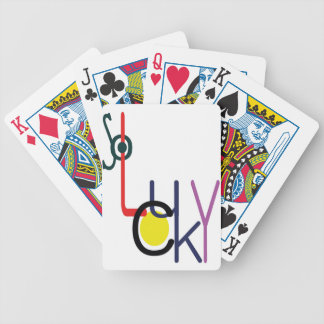 so lucky bicycle playing cards