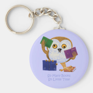 So Many Books So Little Time Keychain