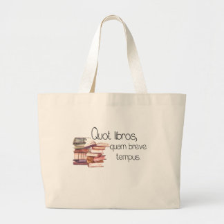 So many books, so little time library tote