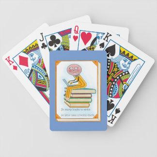 So Many Books to Write Poker Deck