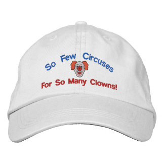 So Many Clowns Embroidered Hat