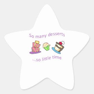 SO MANY DESSERTS STAR STICKER