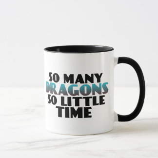 So Many Dragons So Little Time Gamers Geek Mug
