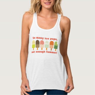 So Many Ice Pops Not Enough Summer Cute Ice Cream Tank Top