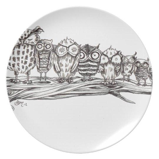 So Many Owls Plate