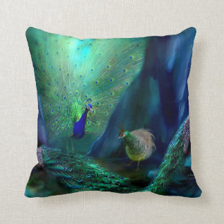 So Many Peacocks Art Designer Pillow