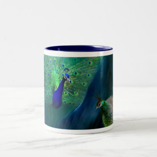 So Many Peacocks Art Mug