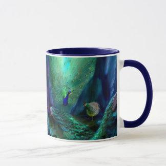 So Many Peacocks Art Mug