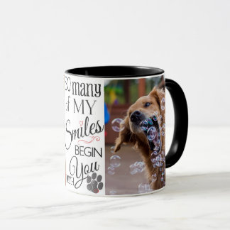 So Many Smiles Custom Pet Photo Mug