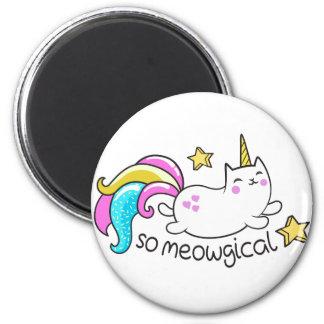 So Meowgical Cute Unicorn kitty glitter sparkles Magnet
