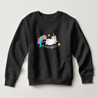 So Meowgical Cute Unicorn kitty glitter sparkles Sweatshirt
