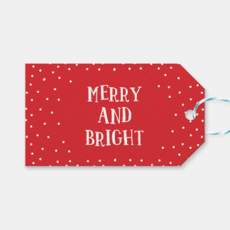 So Merry and Bright Holiday Gift Tag Pack Of Gift Tags