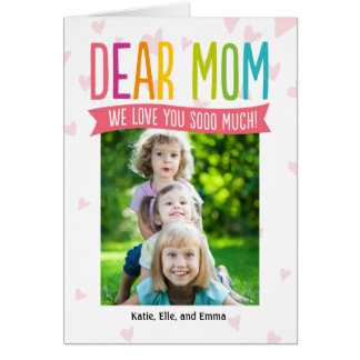 So Much Love Mothers Day Photo Card For Mom