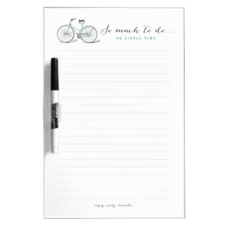 So much to do - Vintage Bicycle Dry Erase Board