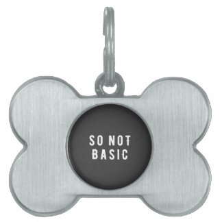 So not basic pet tag