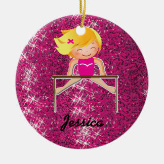 So Pretty Personalized Gymnastics Ornaments
