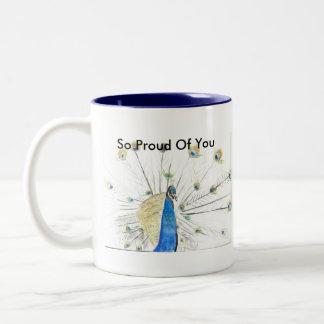 So Proud Of You peacock  Mug... Two-Tone Coffee Mug