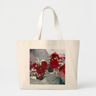 so red+roses large tote bag