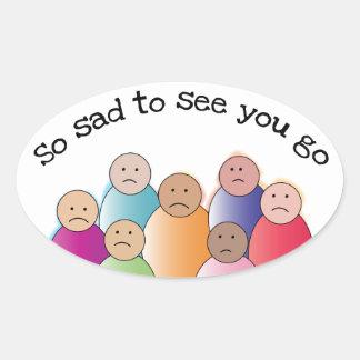 So Sad Oval Sticker