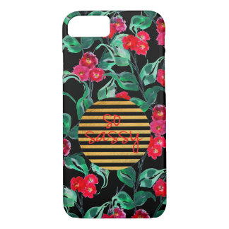 So sassy pattern with black background Case-Mate iPhone case