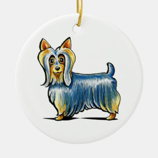 So Silky Terrier Ceramic Ornament