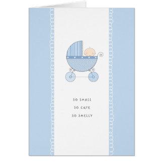 So Small, So Cute New Baby Congrats | Blue Boy Card