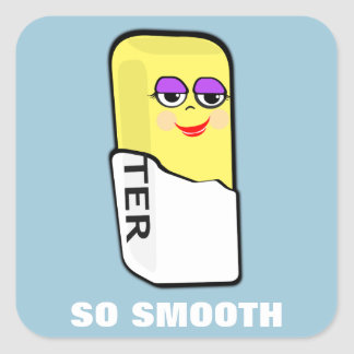 So Smooth Square Sticker
