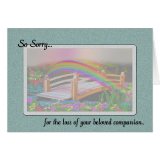 So Sorry for the loss of Pet Sympathy Card