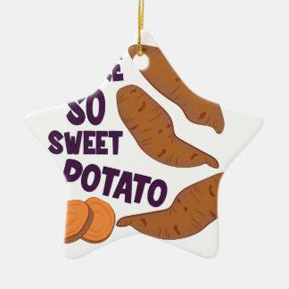 So Sweet Potato Ceramic Ornament