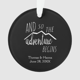 So The Adventure Begins Rustic Mountain Wedding Ornament