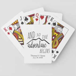 So The Adventure Begins Rustic Mountain Wedding Playing Cards