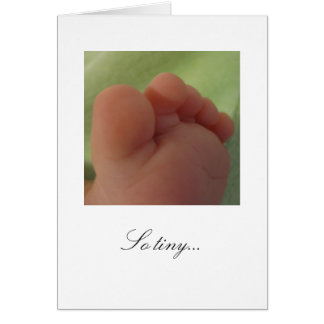 So tiny...New Baby Card