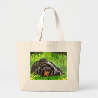 So tired large tote bag