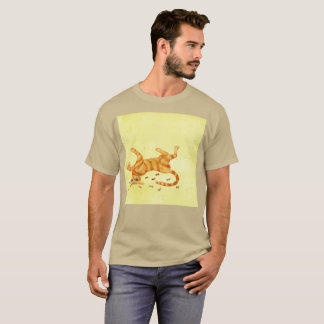 So Tired Mucho Work Gato Watercolor Rare T-Shirt