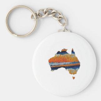SO VAST AUSTRALIA BASIC ROUND BUTTON KEYCHAIN