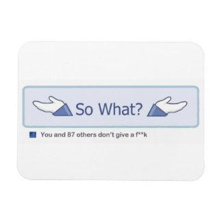 So What? (Facebook Button) Rectangular Photo Magnet