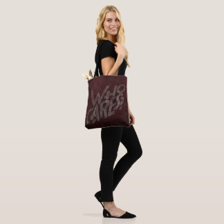 So, who cares? Wall art graffiti style tote bag