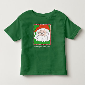So who gives Santa gifts funny christmas tee